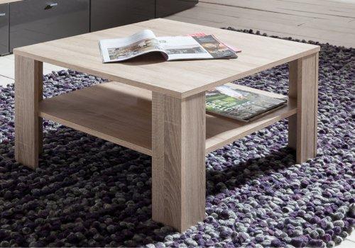 Couchtisch Tisch Wohnzimmertisch quadratisch mit Ablage 25 67x67x44 cm Sonoma Eiche hell *idealer Tisch für jedes Wohnzimmer*