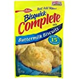 Betty Crocker Bisquick Complete Buttermilk Biscuit Mix, Just Add Water! 7.5 Oz. = 6 to 8 Biscuits (4 Pack)