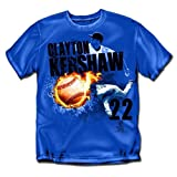 "Los Angeles Dodgers MLB Clayton Kershaw #22 Fireball"" Mens Tee (Royal) (Medium)"" - CSW-MLB-012R-02 at Amazon.com"