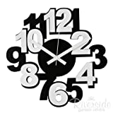 Modern Funky Black & White Wall Clock - Contemporary designby Payless Shop