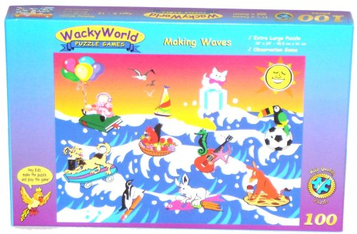 Cheap Game Development Group Making Waves 100-piece Jigsaw Puzzle Game (B000066662)