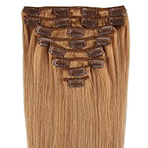 beauty7 16 28 inch clip in real remy human hair extensions
