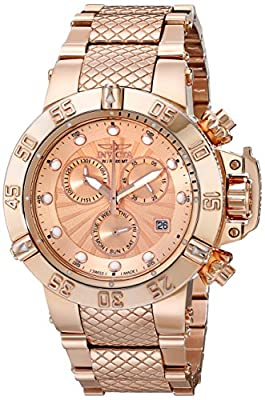 Invicta Women's 16698 Subaqua Analog Display Swiss Quartz Rose Gold Watch
