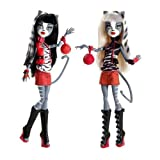 Monster High Action Figure Doll 2Pack Gift Set Werecat Sisters Meowlody Purrsephone