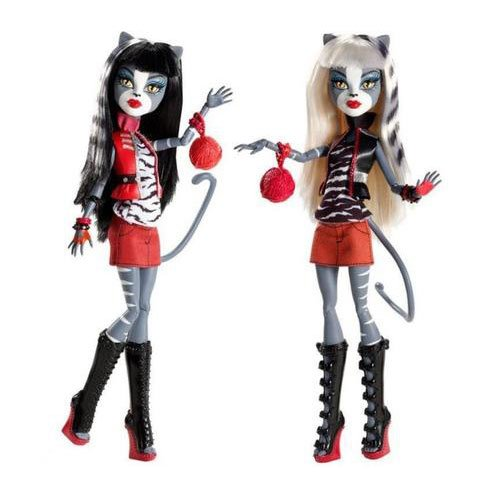 Product Image: Monster High Action Figure Doll 2Pack Gift Set Werecat Sisters Meowlody Purrsephone