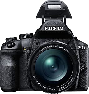 Fujifilm X-S1 12MP EXR CMOS Digital Camera with Fujinon F2.8 to F5.6 Telephoto Lens and Ultra-Smooth 26x Manual Zoom (24-624mm)