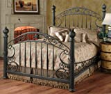 Hillsdale Furniture 1335BKR Chesapeake Bed Set with Rails, King, Rustic Old Brown