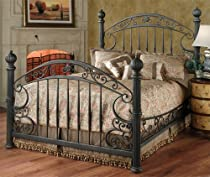 Hot Sale Hillsdale Furniture 1335BKR Chesapeake Bed Set with Rails, King, Rustic Old Brown