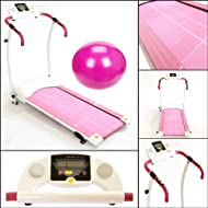Cheap Gym Master Motorised 1.5 HP Electric Treadmill in Pink includes Free Balance Ball. Price-image