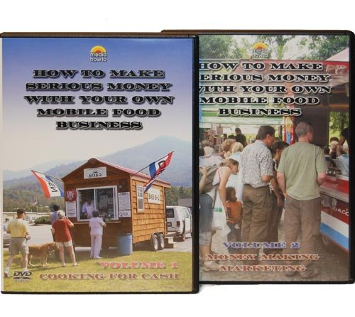 2 DVD SET (How to Make Serious Money with Your Own Mobile Food Business) Cooking for Cash+ Money Making Marketing)