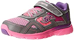 Stride Rite Racer Light-up Supersonic Athletic Shoe (Toddler/Little Kid),Pink/Grey,1 M US Little Kid