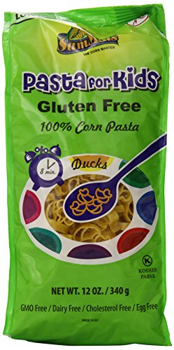 Sam Mills Pasta for Kids, Ducks, Gluten Free, 12-Ounce Bags (Pack of 12)