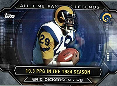 2015 Topps All Time Fantasy Legends #ATFLED Eric Dickerson - Los Angeles Rams (NFL Football Card)