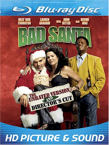 Cover art for  Bad Santa (Unrated Version + Director's Cut) [Blu-ray]