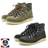 CEBO セボ メンズ スエードマウンテンブーツ 92115B オイルドレザー  CLIMBING BOOTS 2種靴ひも付  41(26.0cm-26.5cm),ブラック