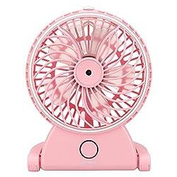 Remax Portable Mist Fan F9 Kawaii Beauty Moisture Fan - Pink