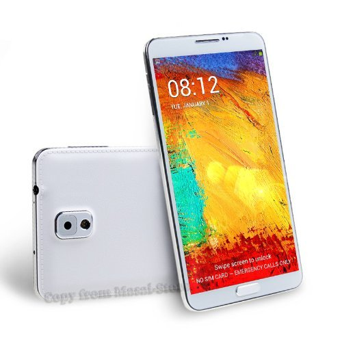 Unlocked 5.5 Inch 960×540 Screen With MTK6582 1.3GHz Quad Core CPU Android 4.3 Smart Phone 512MB RAM+GPS+S Pen air gesture-white