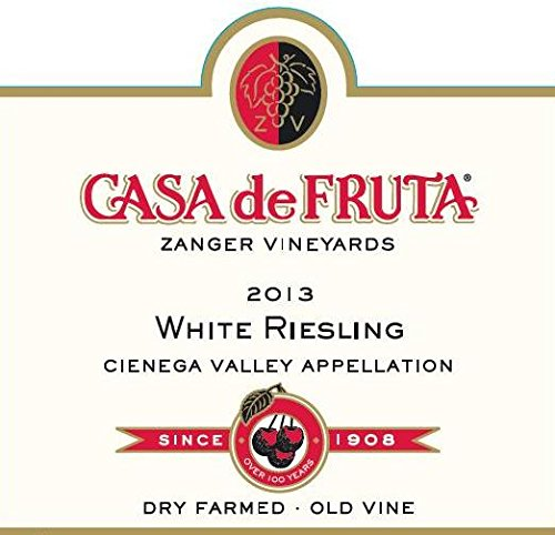 2013 Casa De Fruta White Riesling Cienega Valley 750 Ml