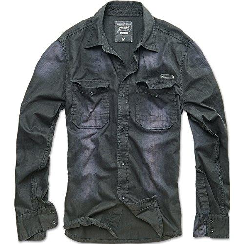 brandit-hardee-denim-shirt-black-size-xxl