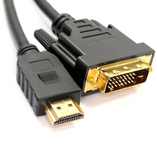 kenable DVI-D 24+1pin Male to HDMI Digital Video Cable Lead GOLD 3m (~10 feet)