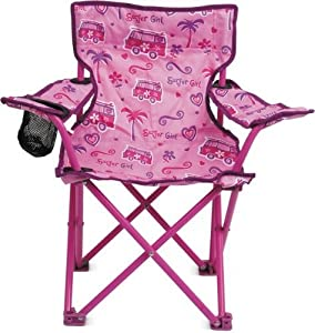 Kids Childrens Folding Chair Cup Holder Carry Bag Garden