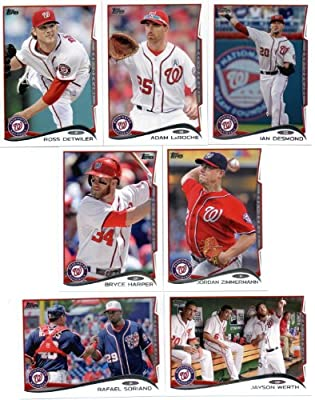 2011, 2012,2013 & 2014 Topps Washington Nationals Baseball Card Team Sets (Complete Series 1 & 2 From All Four Years )