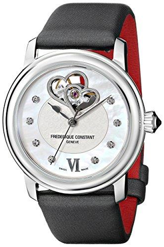 Frederique Constant FC310WHF2P6 - Reloj para mujeres, correa de satén color negro