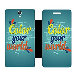Skintice Designer Flip Cover with Vinyl wrap-around for Lenovo Vibe S1, Design - color your world