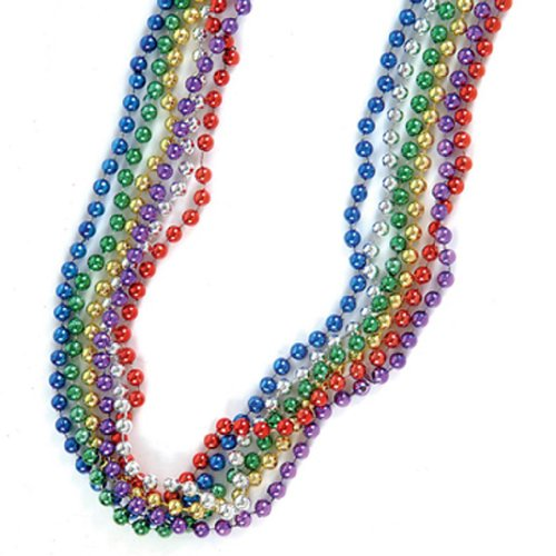 33 inch Mardi Gras Beads (12 per order)