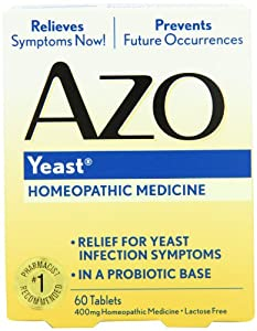 AZO Natural Yeast Symptom Prevention & Relief. , Lactose Free, 60 Tablet  Box