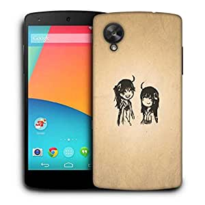 Snoogg Minimalistic Simple Printed Protective Phone Back Case Cover For LG Google Nexus 5