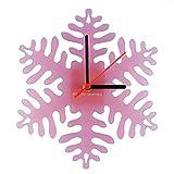 euphyllia-snowflake-Orologio da parete per bambini in rosa satinato (e9514pnk)