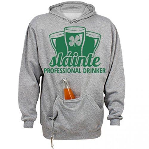 Slainte Irish Drinking: Unisex J. America Tailgate Hoodie (Bottle Opener Slainte compare prices)
