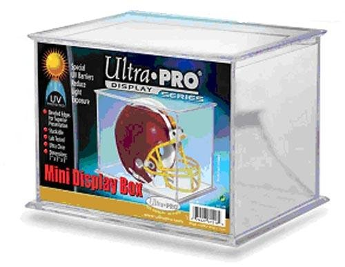 Ultra Pro Mini Football Helmet Holder - Display Case - Stores stuffed animals and More!