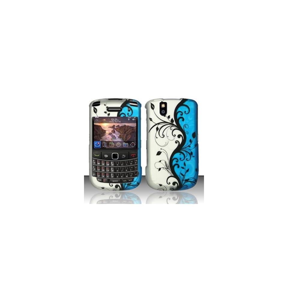 BLUE VINES Hard Plastic Design Cover Case for Blackberry Tour