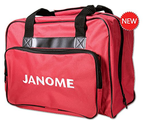 Janome Sewing Machine Tote Bag in Red with Janome Logo (Janome Travel Sewing Machine compare prices)
