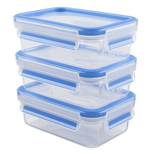 Emsa Clip & Close 508570 Set 3 contenitori salva freschezza da 0,55 l