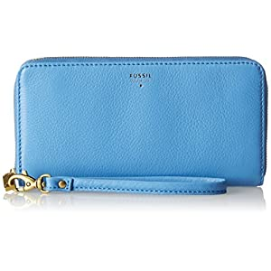 Fossil Erin Zip Clutch,Crystal Blue,One Size