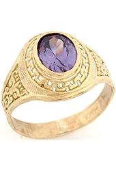 Alexandrite June Birthstone CZ Ring: Anillos De Graduacion: Jewelry