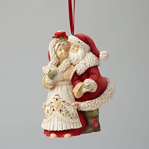 Enesco Heart of Christmas Mr. and Mrs. Claus Ornament 4.25 IN (Mrs Claus Christmas)