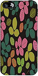 Snoogg Seamless Pattern With Leaf Designer Case Cover For Apple Iphone 5 / 5S