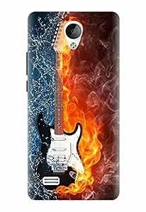 Noise Designer Printed Case / Cover for Vivo Y21L / Patterns & Ethnic / Guitar Fire Design
