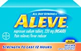 Aleve All Day Strong Pain Reliever/Fever Reducer Gelcaps, 80-Count Bottles (Pack of 2)