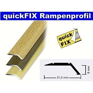 quickFIX Rampenprofil zum Kleben 100x3,15x0,8 cm in Alu gold
