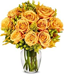 From You Flowers - Oak and Roses - Premium (Free Vase Included)