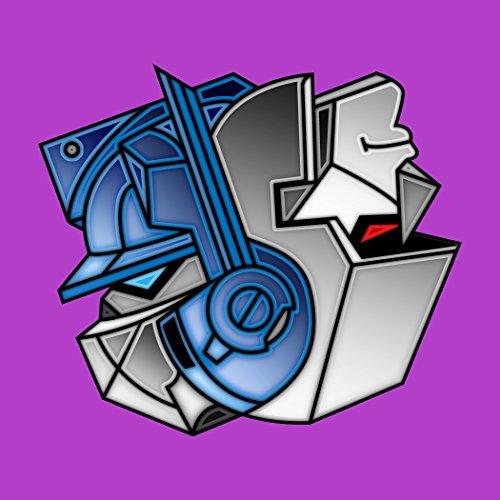"""Robots Good Bad Yin Yang"" Alien Machine Movie Parody - Vinyl Sticker front-515141"