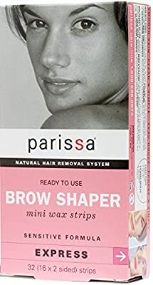 Parissa Natural Hair Removal Systems - Mini Wax Strips for Eyebrow Design - (All Hair Types) (a)