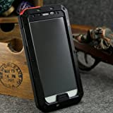 Newest Military Heavy duty Extreme shockproof/dust/dirt proof aluminum metal case for Samsung Galaxy SIV S4 I9500, with gorilla Glass protected, simple waterproof function for galaxy S4 I9500, Hot selling Protective case shell for Galaxy S4 i9500, Shipping from US Seller(Black)-Novelty