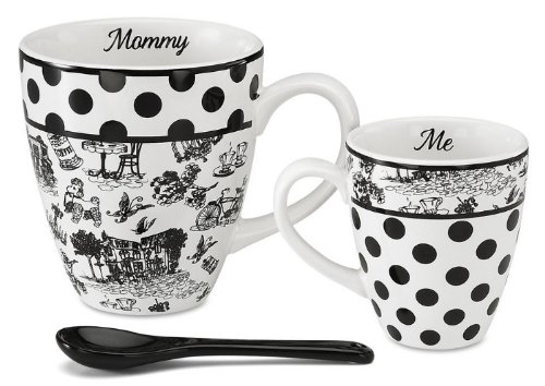 Pavilion Gift 49012 Mommy And Me Two Mugs With Spoon By Jessie Steele
