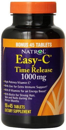 Natrol Easy-C 1000Mg Tablets, Time Release With Bioflavonoids, 135-Count